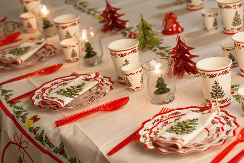 taula amb decoració de nadal