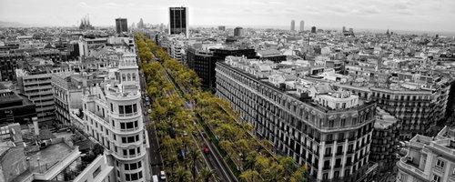 vistes aèries de l'avinguda diagonal