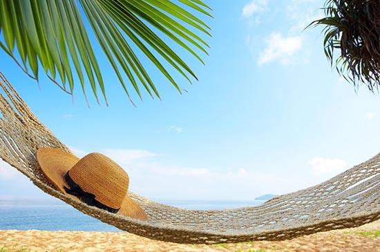 vacances, platja i hamaca