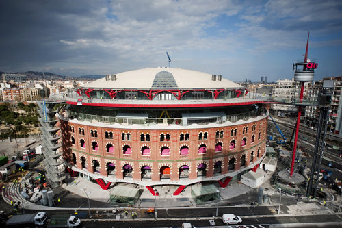 cúpula les arenas - la torre de barcelona