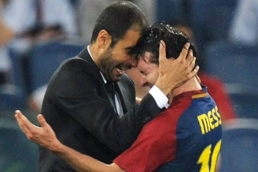 Pep Guardiola i Leo Messi