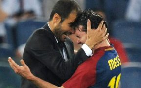 Pep Guardiola i Leo Messi